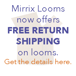 free return shipping at Mirrix Looms