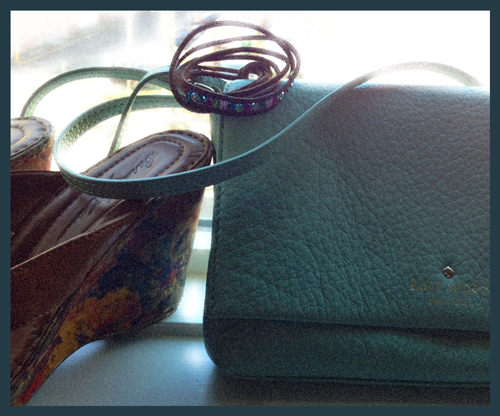 purse and bracelet